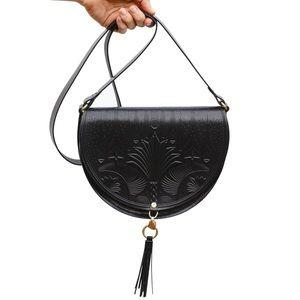 Animal Handmade Cut the Sky Black Crossbody Bag